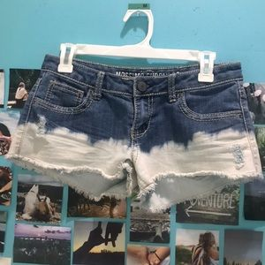 Acid-Wash Jean Shorts